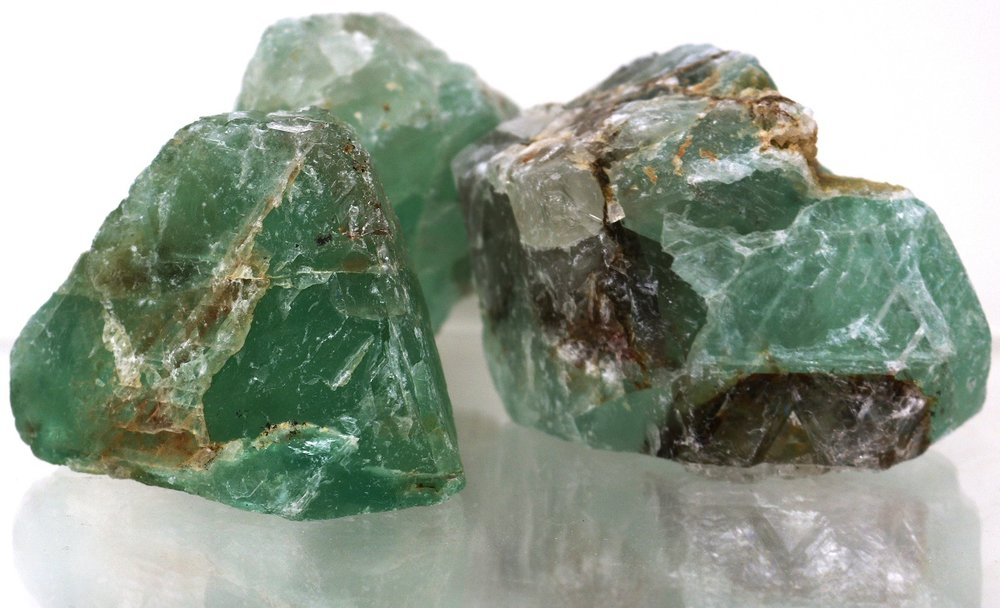 1 kg Fluorit Rohsteine, A Qualität, 1 bis 4 Steine