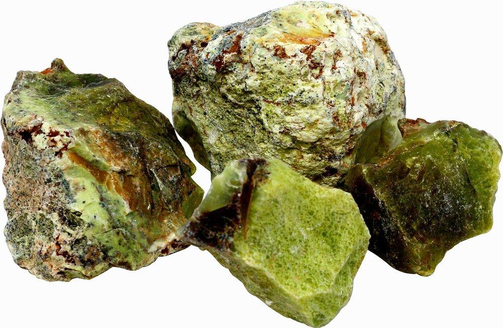 1 kg grüner Opal, Kiwi-Opal, 3 bis 6 Steine