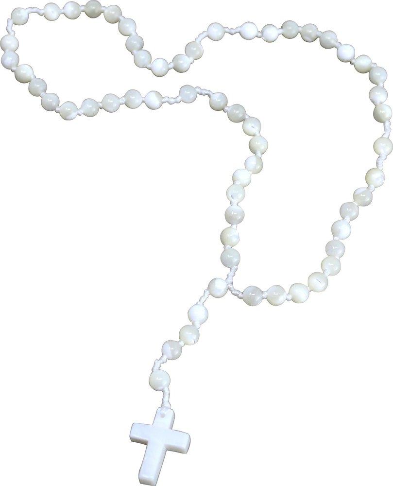 Gebetskette Rosenkranz aus Perlmutt, 59 Kugeln