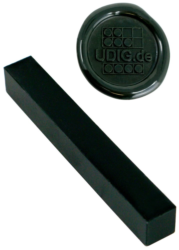 Siegelwachs - unser feinster- Dunkelgrün, 1 Stange, 7 cm