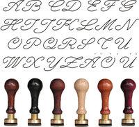 Siegel Gummistempel Script 24 mm 2 Initialen