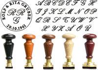 Siegel Gummistempel Italic Rundgravur mit Initialen