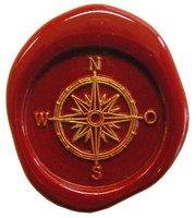 Siegelstempel Petschaft Kompass 24 mm