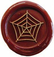 Siegelstempel Petschaft Spinnennetz 24 mm
