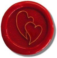 Siegelstempel Petschaft verliebte Herzen 24 mm