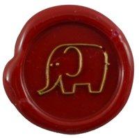 Siegelstempel Petschaft Elefant II 24 mm
