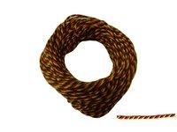 Siegelkordel 1 mm schwarz-rot-gold Preis für 10 Meter