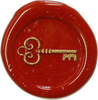 Siegelstempel Petschaft Schlüssel 24 mm
