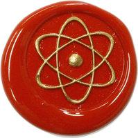 Siegelstempel Petschaft Atom 24 mm