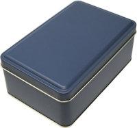 Geschenkdose anthrazit 15 cm ohne Siegel mit Scharnierdeckel