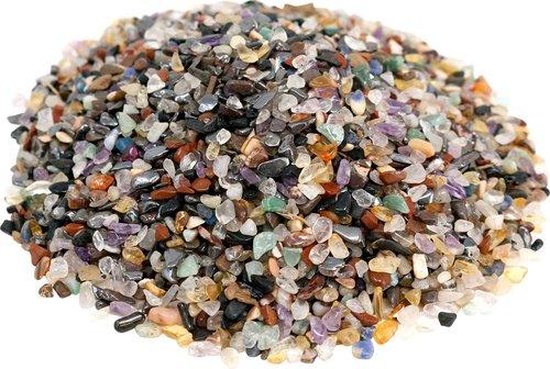 Edelstein Trommelsteine im Mix, 1 kg, micro 0,2 bis 0,5 cm