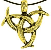 Anhänger Triskel Knoten, Metall, 3 cm
