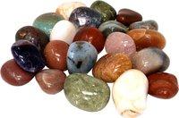 Edelstein Trommelsteine im Nature Mix, 1 kg, große Steine 3-4,5 cm / 20-30 Steine