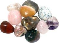 Edelstein Trommelsteine im Nature Mix, 500 g, große Steine 3-4,5 cm / 10-15 Steine