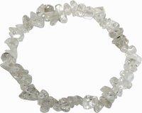 Bergkristall Splitter-Armband, transparent