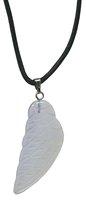 Engelsflügel Opal Glas 35 mm im Geschenkset mit Lederband
