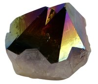 1 Stück Amethyst Spitze bedampft, Rainbow Points