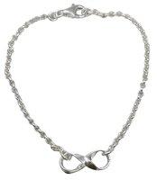 Kinder Armband mit Unendlichkeits Symbol Infinity, 925er Silber