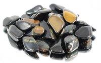 100 g Falkenauge Trommelsteine im Samtbeutelchen, medium