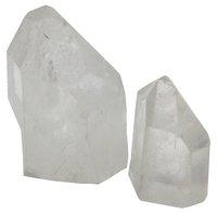 Bergkristall Spitze mit Standfläche, 100 g