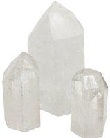 Bergkristall Spitze mit Standfläche, 200 g