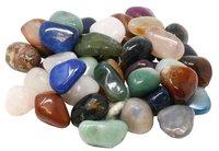 Edelstein Trommelsteine im Mix, 1 kg, große Steine 3-4 cm / 28-40 Steine