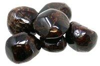 100 g Granat Trommelsteine im Samtbeutelchen, medium