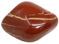 1 Stück roter Jaspis Trommelstein, XXL 7 bis 9 cm