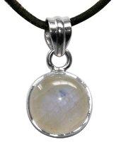 Mondstein Anhänger Lena, rund, 925er Silber, 1,5 cm