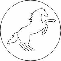 Siegelstempel Petschaft Pferd II 24 mm