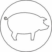 Siegelstempel Petschaft Schwein 24 mm