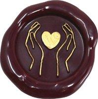Siegelstempel Petschaft Herzhände 24 mm