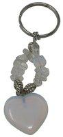 Schlüsselanhänger Opal Herz, 8,5 cm in Geschenkdose