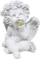 Süßer Engel mit Edelsteinherz China Jade, 16 cm