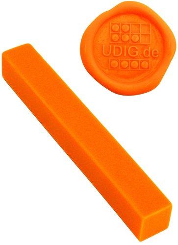 Siegelwachs - unser feinster - Indisch-Orange, 1 Stange, 7 cm