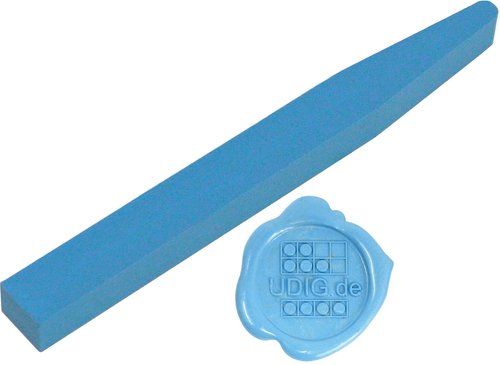 Siegelwachs Stange flexibel Hellblau, 12,8 cm
