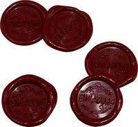 25 Stück fertige Siegelaufkleber Einladung Weinrot Ø 27 mm