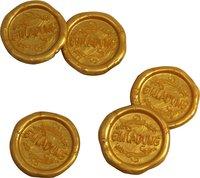25 Stück fertige Siegelaufkleber Einladung Gold Ø 27 mm